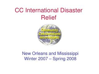 CC International Disaster Relief