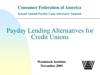 Payday Lending Alternatives for Credit Unions