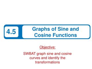 Objective: SWBAT graph sine and cosine curves and identify the  transformations