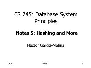 CS 245: Database System Principles