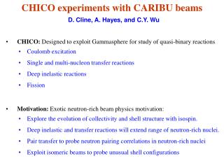 CHICO experiments with CARIBU beams