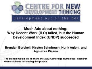 Brendan Burchell, Kirsten Sehnbruch, Nurjk Agloni, and Agniezka Piasna