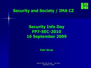 Security and Society  / IMA CZ
