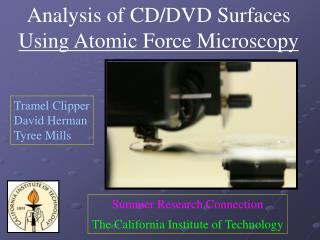Analysis of CD/DVD Surfaces Using Atomic Force Microscopy