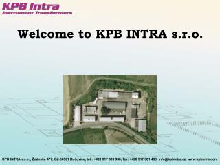 Welcome to KPB INTRA s.r.o.