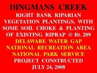 MEGA-SLIDE PLANTING-DINGMAN'S CR.  PIX BY DERRICK 7-24-2008