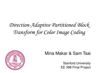 Direction-Adaptive Partitioned Block Transform for Color Image Coding