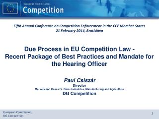 Due Process in EU Competition Law -