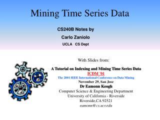 Mining Time Series Data