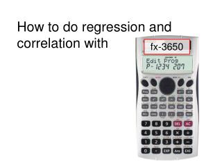 How to do regression and correlation with