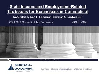 CBIA 2012 Connecticut Tax Conference