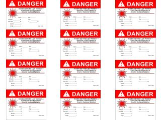 Invisible and Visible Laser Radiation — Avoid Eye or Skin Exposure to