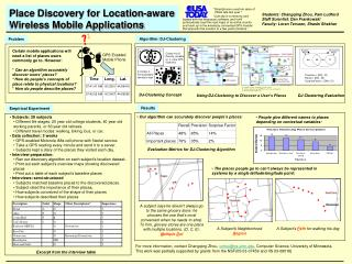 Place Discovery for Location-aware  Wireless Mobile Applications