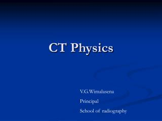 CT Physics