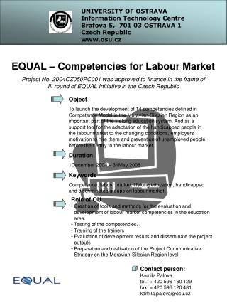 EQUAL – Competencies for Labour Market