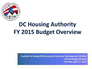 DC Housing Authority  FY 2015 Budget Overview