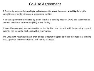 Co-Use Agreement