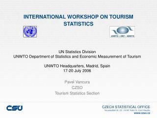 INTERNATIONAL WORKSHOP ON TOURISM STATISTICS