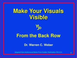 Dr. Warren C. Weber