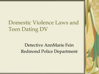 Domestic Violence Laws and  Teen Dating DV