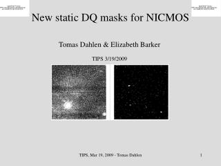 New static DQ masks for NICMOS