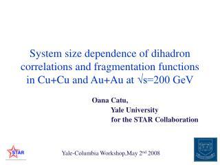 Oana Catu,                            Yale University
