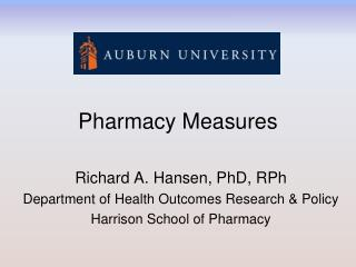 Pharmacy Measures