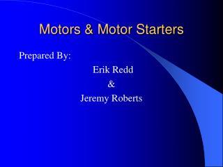Motors & Motor Starters