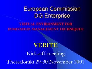 European Commission DG Enterprise
