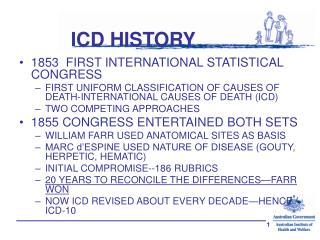 ICD HISTORY