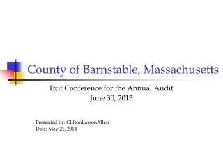 County of Barnstable, Massachusetts
