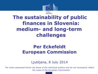 The sustainability of public finances in Slovenia: medium- and long-term challenges