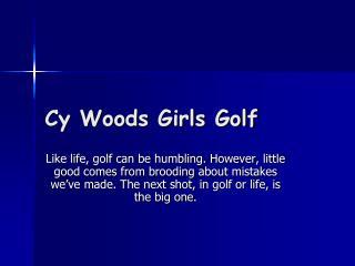 Cy Woods Girls Golf