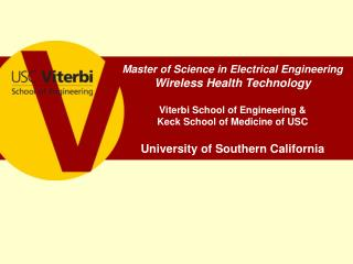 Master of Science in Electrical Engineering Wireless Health Technology