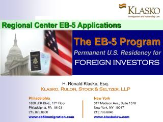 Regional Center EB-5 Applications