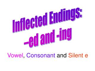 Inflected Endings:  –ed and -ing