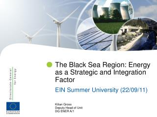 The Black Sea Region: Energy as a Strategic and Integration Factor