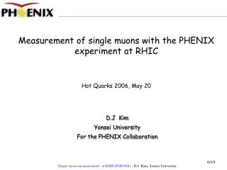 Measurement of single muons with the PHENIX experiment at RHIC