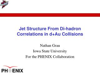 Jet Structure From Di-hadron Correlations in d+Au Collisions
