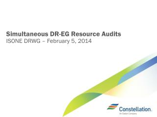 Simultaneous DR-EG Resource Audits