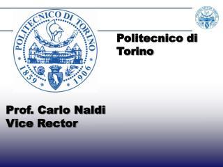 Prof. Carlo Naldi  Vice  Rector