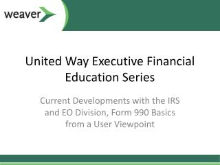 United Way Executive Financial Education Series