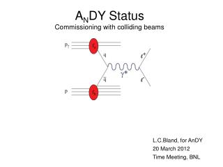 A N DY Status Commissioning with colliding beams
