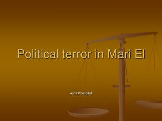 Political terror in Mari El