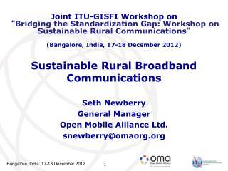 Sustainable Rural Broadband Communications