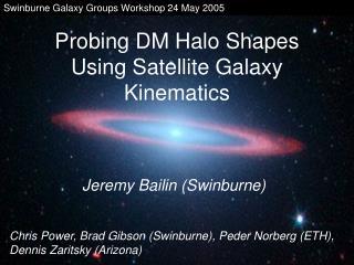 Probing DM Halo Shapes Using Satellite Galaxy Kinematics