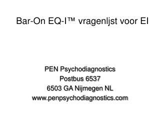 Bar-On EQ-I ™  vragenljst voor EI