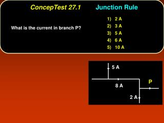ConcepTest 27.1 Junction Rule
