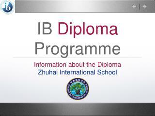 IB  Diploma  Programme