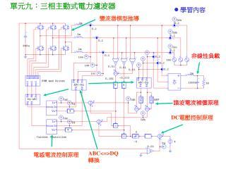單元九:三相主動式電力濾波器